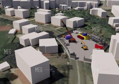 Simulazione cantiere per il microtunnelling per la riqualificazione del fiume Corno a Gorizia