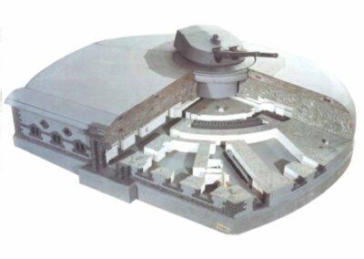 Modello in scala della batteria Amalfi