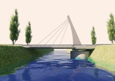 Rendering 3d del ponte girevole Ponte Cucchini a Grado