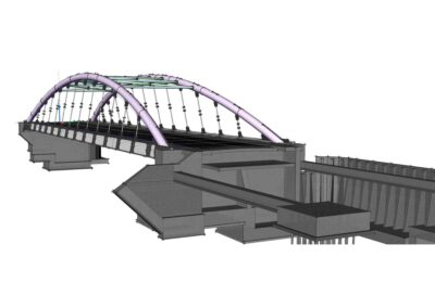 Ponte di Barcis, modello globale in BIM