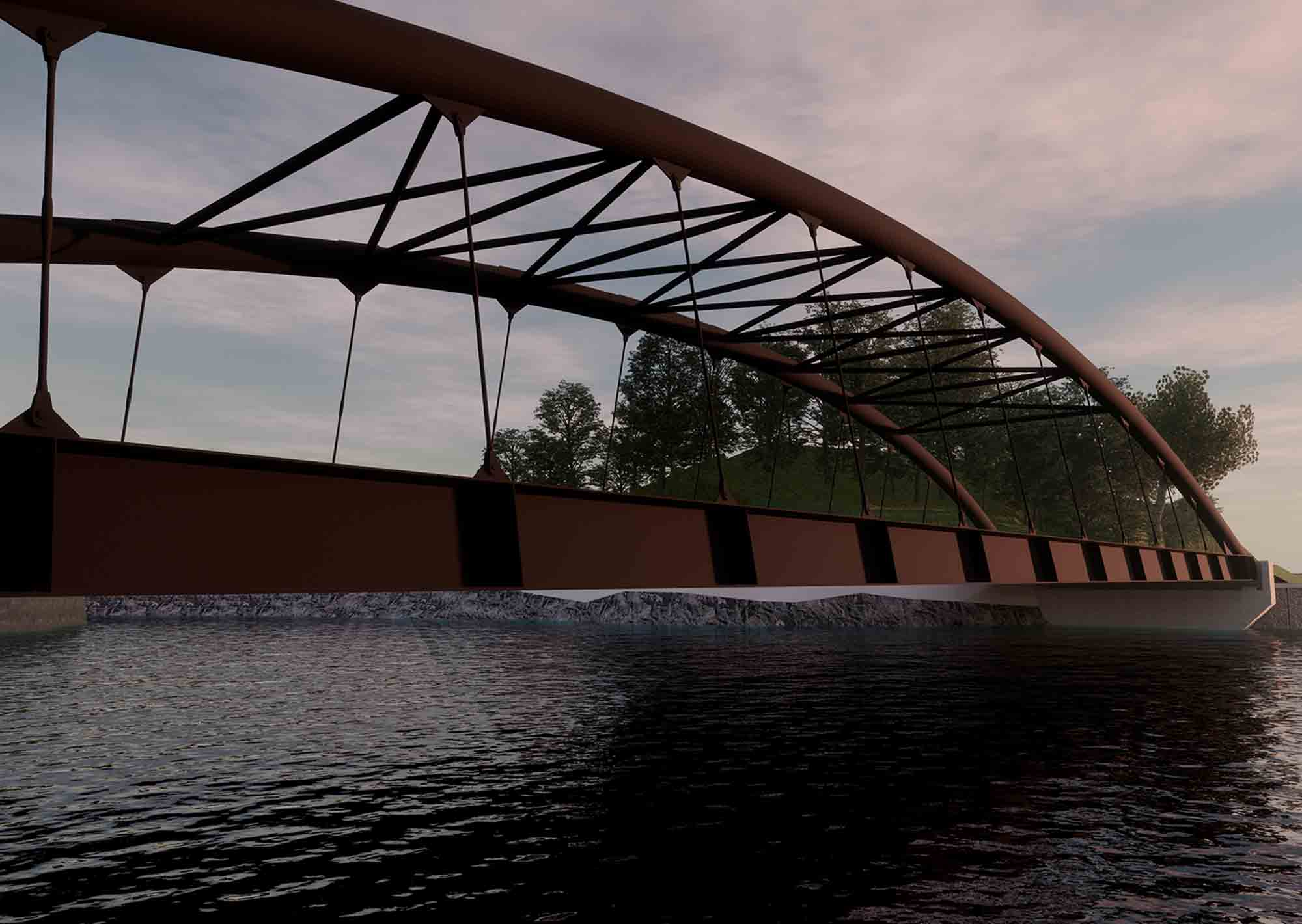 nuovo Ponte di Barcis, rendering 3D