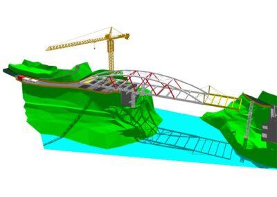 Ponte di Barcis, modello globale del varo in 3D