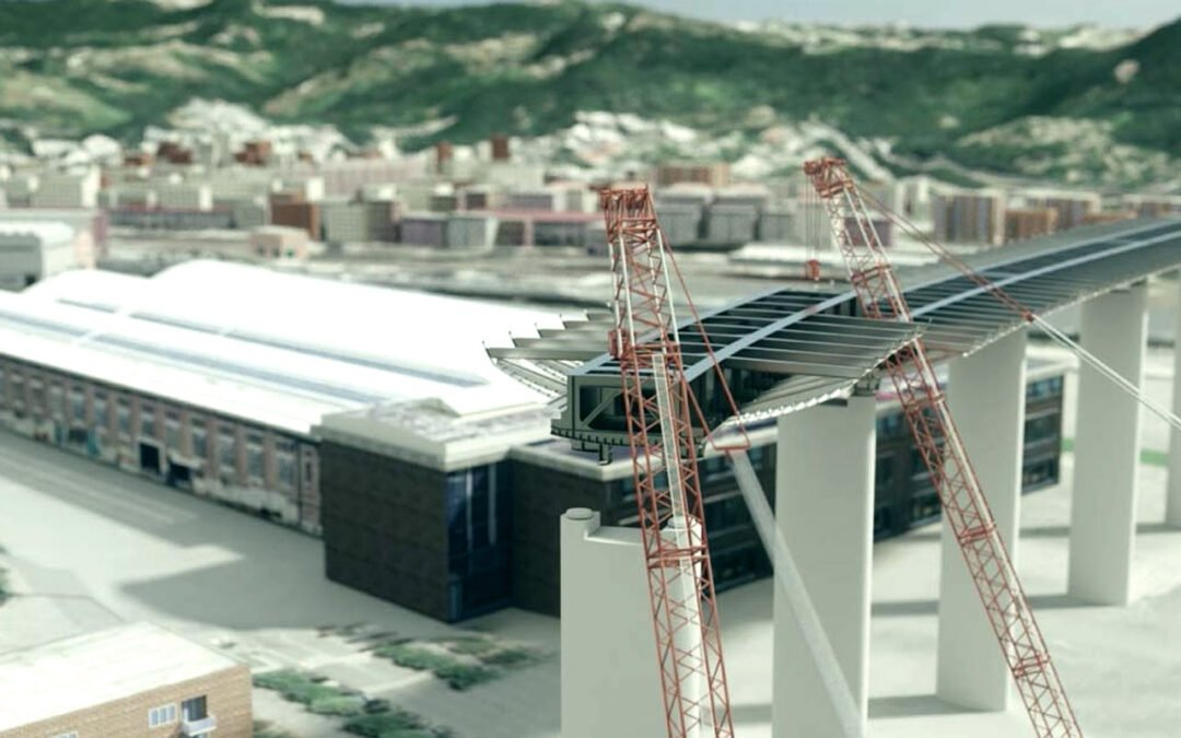 Presentazione sequenze di varo del ponte di Genova