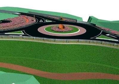 Nuova rotatoria e sistemazione stradale di Ovaro