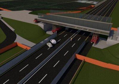 rifacimento dei sovrappassi autostradali loner e ischiello, fasi di varo