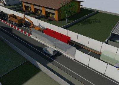 Lavori di posa reti acquedotto e fognatura a Calvisano