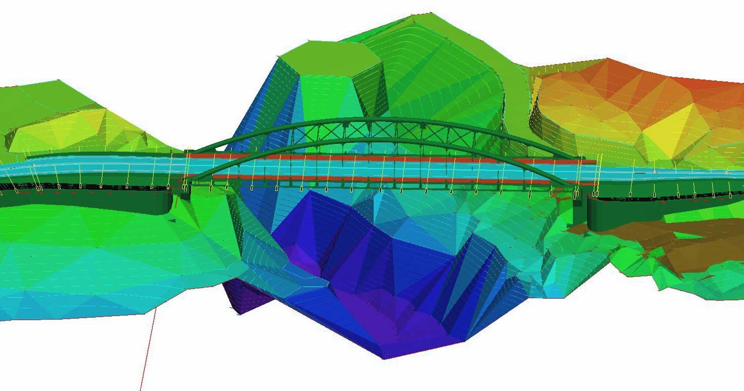 ponte di barcis bim sierrasoft roads architettura ingegneria servizi