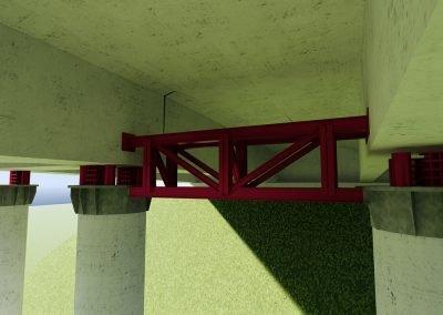 adeguamento strutturale dei sovrappassi a cassone sull'Autostrada del Brennero A22 sollevamento su pile