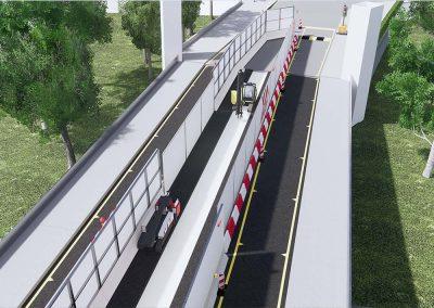 Ponte stradale Pontelungo sul fiume Reno fase 1 di cantiere