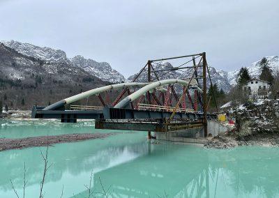 Nuovo ponte e viabilità sul lago di Barcis