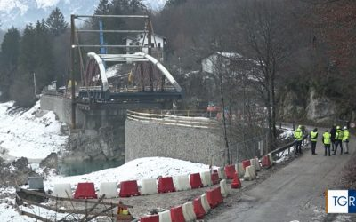 Ponte di Barcis, TGR FVG documenta il sopralluogo