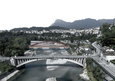 ponte sul piave belluno fotoinserimento con ponte
