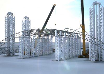 Presentazione montaggio delle strutture metalliche dell'ILVA di Taranto