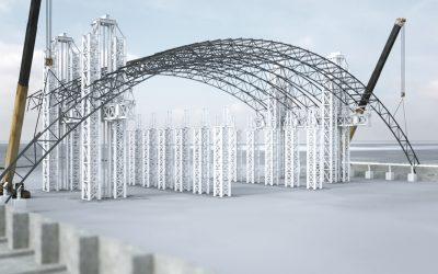 Ilva di Taranto, presentazione del montaggio della struttura